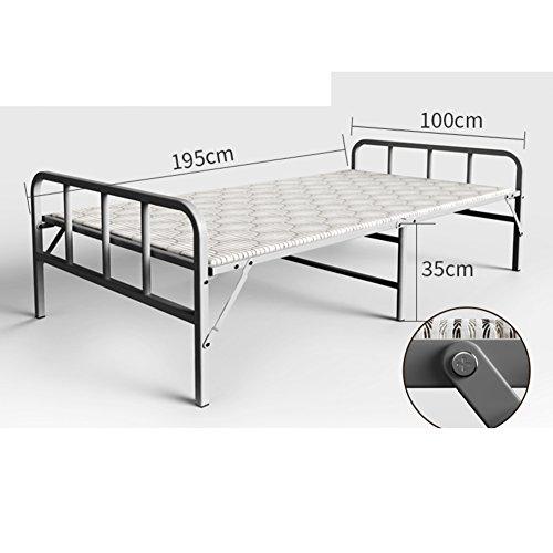 JKAPWQOILUXHWTX Einfaches holzbett/starres Bett/einzelbett/büro Mittagessen/nap-Bett/Escort Bett-F