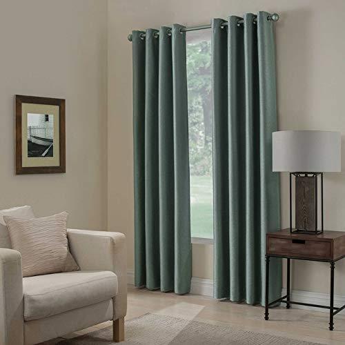 Kensington Home Fashion Paradise 108-Inch Room Darkening Grommet Top Window Curtain Panel in Spa