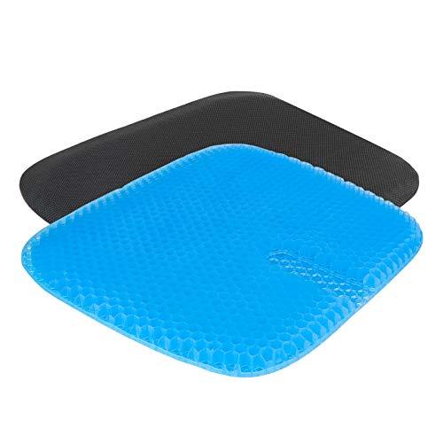 Gel Sitzkissen Gelkissen, YEEGO DIRECT Cool & Atmungsaktiv Multifunktions-Gel-Kissen mit Anti-Rutsch Bezug zur Steißbein-Entlastung