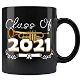 Class Of 2021 Trumpet Senior Marching Band Ceramic Coffee Mug Tea Cup