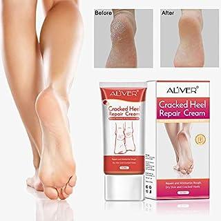 Crema de talón agrietado. Alivio orgánico hidratante para los talones agrietados secos, pies callosos, pie de atleta