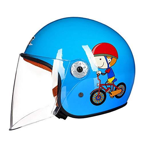 HNLong Motocicleta eléctrica Casco para niños niños bebé Dibujos Animados Temporadas de...