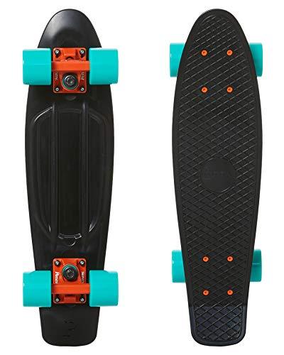 Penny 22 Bright Light Longboard, Adultos Unisex, Black/Torquoise (Multicolor)