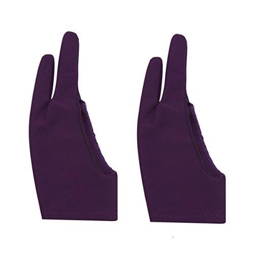 Wei Xi Artist Handschoen voor Graphic Tablet, Pack van 3 gratis grootte Nylon Handschoenen voor Tekenen