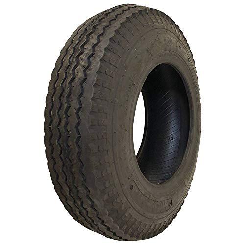 Stens 160-601 4.80x4.00-8 Trailer 2 Ply Tire, Black