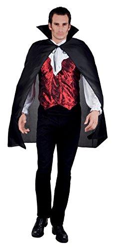 Boland- Mantello Vampiro con Bavero Bloodlust per Adulti, Nero, Taglia Unica, 96922