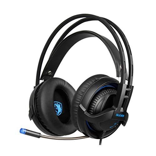 LXFTK Casque de Jeu monté sur la tête avec contrôle du Volume et microphonevidéo, Sports