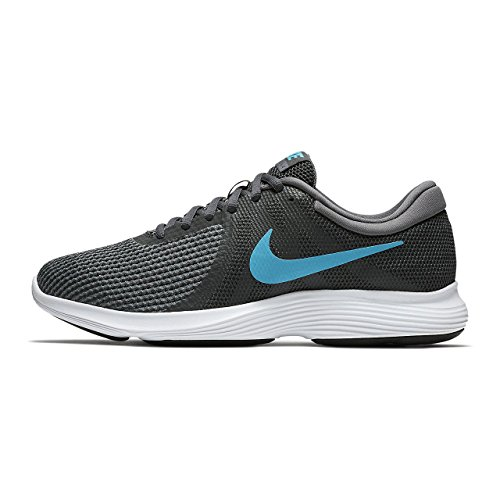 Nike Men's Revolution 4 Running Shoes (11.5 D(M) US, Anthracite/Lt Blue Fury Dk Gry)