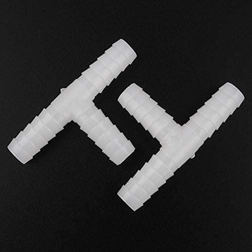 Herramientas de riego agrícola 5pcs / 4-25mm PE Conectores de Manguera de plástico Conectores de Manguera de riego de Junta en T Conector de Tanque de Acuario Conector de Tubo de Manguera de Bomba d