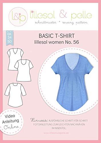 Lillesol & pelle Schnittmuster Basic T-Shirt No.56 women Damen Gr. 34-50 Papierschnittmuster