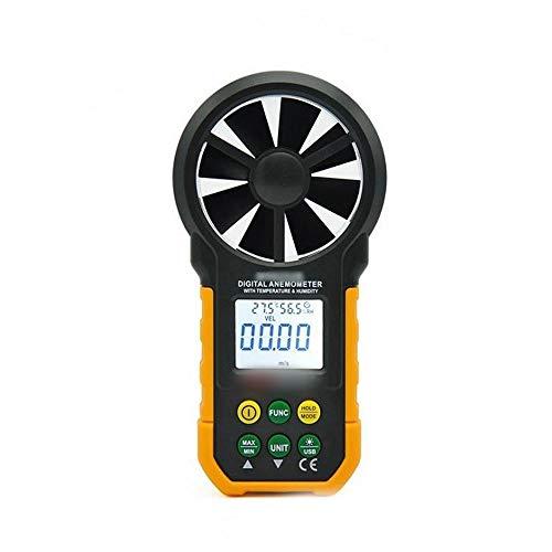 SUIWO Windmesser Anemometer Handdigital Windgeschwindigkeit Meter-Messgerät Luftströmungsgeschwindigkeit Thermometer mit Temperatur- und Feuchtigkeitstest (Farbe