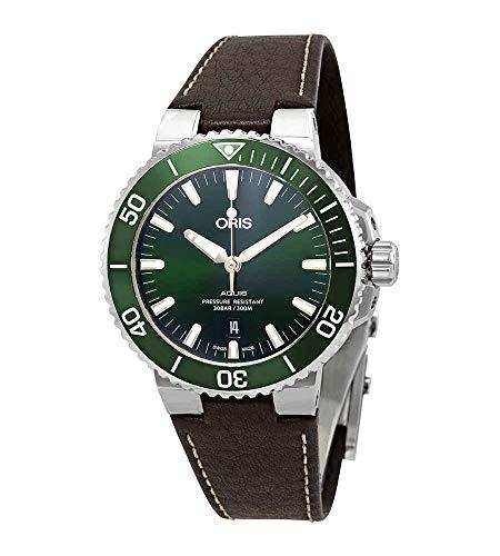 Oris Aquis reloj automático para hombre esfera verde 01 733 7730 4157-07 5 24 10EB