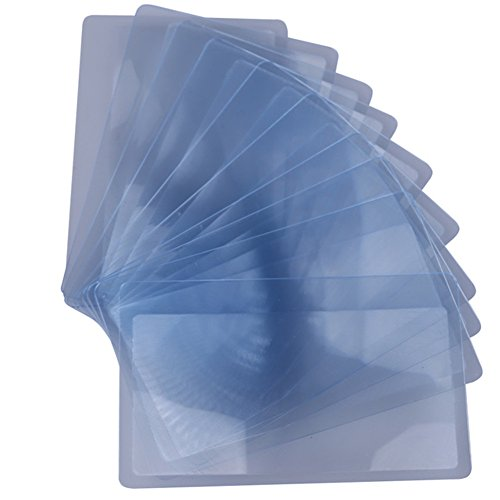 Distinct® 10pcs transparente Kreditkarte 3 X Vergrößerung der Lupe Lupe Fresnel-Linse