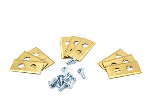vhbw Lot de 9 lames de rechange pour tondeuse robot Worx Landroid L1500i, M500 B, M1000, M1000i, M800, S500i, M WG794E, WA0176, WA0190 (titane, 0,75 mm)