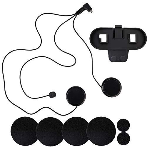 Asdomo - Interfono inalámbrico con Bluetooth para motocicleta, 800 metros, resistente al agua, resistente al viento, para ciclismo, esquí, montañismo, concierto, gimnasio