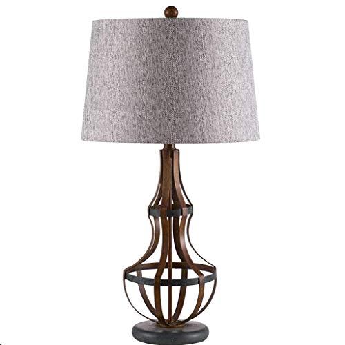 YNHNI Estilo de cabecera Lámpara de Mesa Sala de Mesa lámpara de la lámpara de cabecera del Estilo del Metal con lámpara de Mesa Dormitorio de la lámpara contemporánea,Pequeña