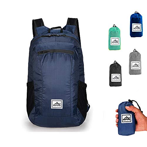Packable Hiking Daypack, Lightweight Foldable Backpack for Travel Outdoor(Blue)