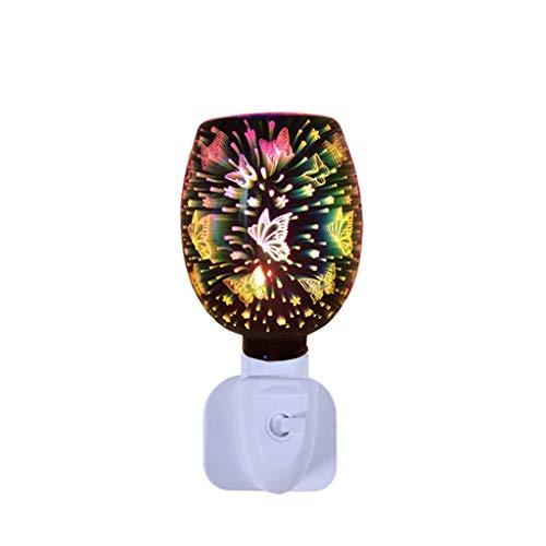 CZX Lámpara de fusión de Cera de aromaterapia enchufable, lámpara de aromaterapia 3D, Quemador de Aceite eléctrico de Vidrio, Quemador de Cera, Calentador, Quemador de Cera con Fragancia