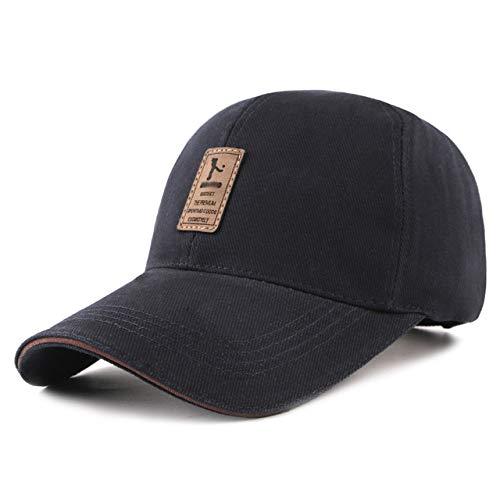 BMG Mens Golf-Hut, Klassischer Breathable Freilauf Cap Kappen-Umfang 56-60Cm Cotton Außensonnenschutzvisier,Blau