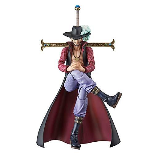 Kioiien Figuras de acción One Piece Mihawk Anime Figura PVC Anime Juego Caracteres Estatuilla Estatuilla Super Movable Juntas Cara Cambiar Anime Modelo Colección Juguetes Juguetes Regalo Adultos y fan
