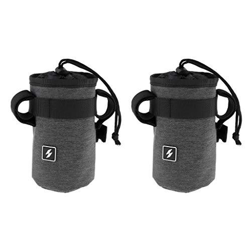 Sharplace Bolsa de Soporte para Hervidor de Agua de 2 Piezas, Bolsas de Botella de Agua Colgantes para Manillar Delantero de Bicicleta