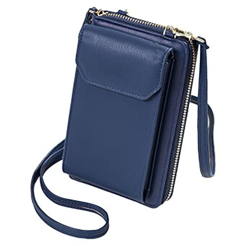SKYXIU Bolso de teléfono de las mujeres de la cartera del Crossbody Bolso pequeño del teléfono celular del cuero del bolso