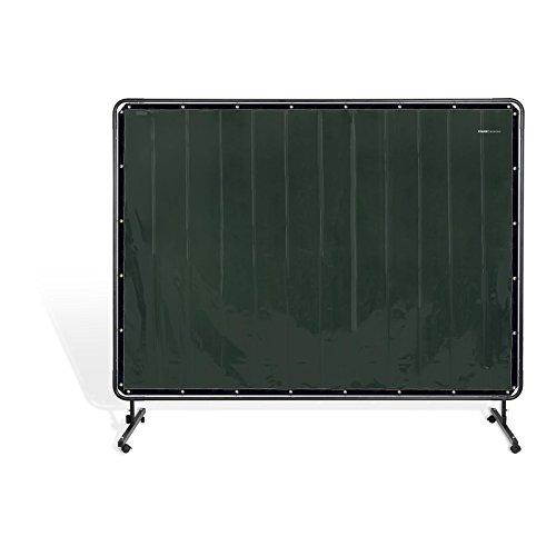 Stamos Germany Cortina de Protección para Soldadura con Bastidor SWS02 (Material de vinilo especial - 4 mm, Costuras e hilos de KEVLAR®, Dimensiones 239 x 196 cm)