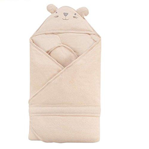 SAMGU Bambino Infantili dei Neonati del Fumetto di Materasso e Sacco a Pelo Coperta Swaddle Bear