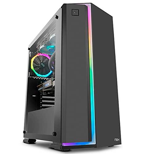 Megamania PC Gaming AMD Ryzen 7 2700 (8 Núcleos up to 4,1Ghz) | 16GB DDR4 | SSD 480GB + 1TB HDD Esclavo | Nvidia GeForce GTX 1660 6GB | WiFi 1200MPS