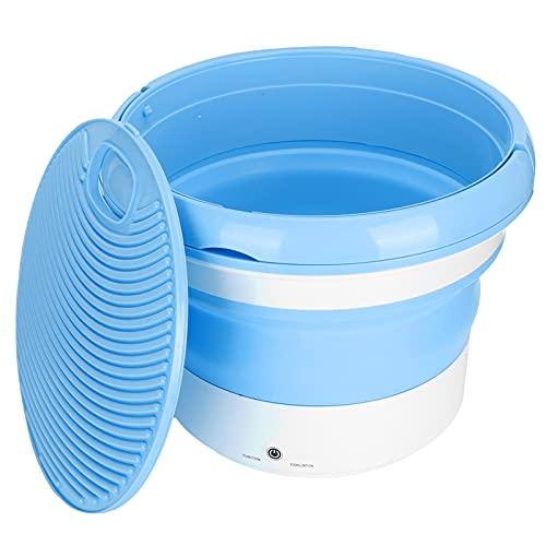 Mini Lavadora, Lavadora Portátil 24W Azul para Camping Viaje Apartamento Dormitorio para Calcetines Ropa Interior(Transl)