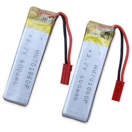UDI YUNIQUE Italia® 2 Pezzi Batteria Lipo Ricaricabile (3.7V 600mAh) per RC Droni quadricotteri U817 U817C U817A U818A WLtoys V959 V969 V979 V989 V999 V929 V949 V212 V222 RC