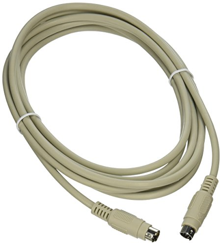 C2G 09471 PS/2 M/M Keyboard/Mouse Cable, Beige (10 Feet, 3.04 Meters)