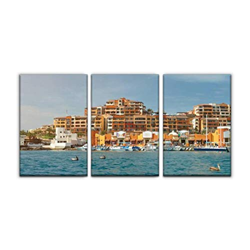 Modern Canvas Painting cabo san lucas resort baja california stock pictures royalty free Wall Art Artwork Decor Printed Oil Painting Landscape Home Office Bedroom Framed Decor (16'x24'x3pcs)