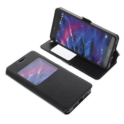 foto-kontor Tasche für MEDION Life X5004 Book Style Fenster Ständer Schutz Hülle Buch schwarz