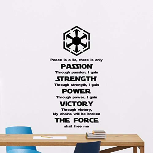 Adesivo Murale Quotazioni Vinile Wall Sticker Art Poster Decorazione Star Wars Wall Sticker Murale Home Decor 42X82Cm
