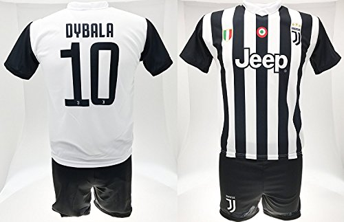Completo Dybala 10 Juventus Bambino Uomo Adulto Maglia Pantaloncini Replica Ufficiale 2017-18 Home (cm:Spalle 46,Torace 52,lungh.69-Small)