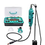 GOXAWEE Mini Amoladora Eléctrica Multiherramienta con Brazo Telescópico / Tabla de Abraz...