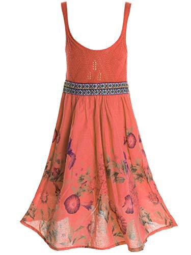BEZLIT Mädchen Kinder Spitze Kleid Peticoatkleid Festkleid Sommerkleid Kostüm 20423 (116/6 Jahre, Lachs)