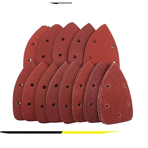 20 Uds papel de lija autoadhesivo triángulo 5 agujeros bucle disco de papel de lija herramientas abrasivas para pulir grano 40-1000-320