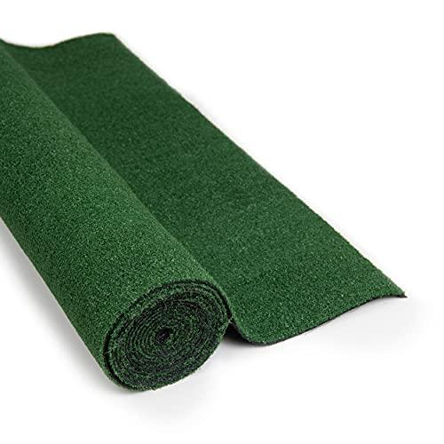Green Turtle Kunstrasenteppich Outdoor 133 x 300 cm, 8 mm ROYAL Melbourne, Kunstrasen Teppich wetterfest, Rollrasen für Balkon, Garten, wasserdurchlässig, Pflegeleichte Grasmatte, Rasenteppich