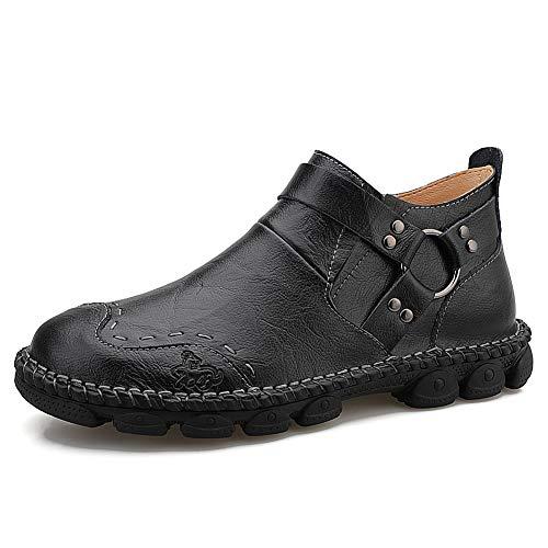 YCKZZR Laarzen Mannen Schoenen Casual Schoenen Man Enkellaarzen Martin wandelschoenen Zwart Groot Maat Geschikt voor klimmen en wandelen