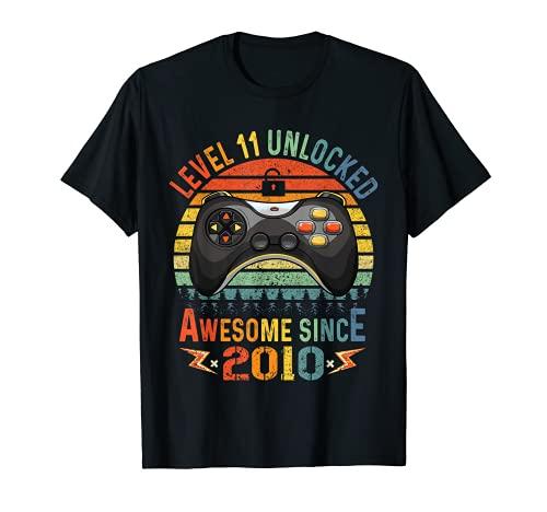Nivel 11 Desbloqueado Video Gamer 11 Años Niño de 11 años Camiseta