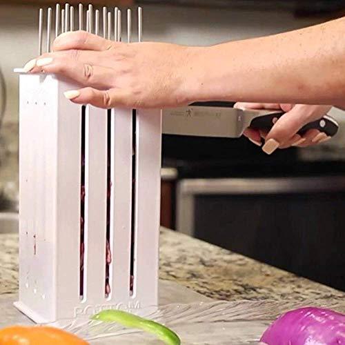41NOyM0k12L - Wghz Grillspieße Kebab Maker, 16-Loch-Brochettenschneider, Grillgabeln Grillzubehör, Fleischbroschetten-Spießmaschine, mit einigen Stöcken