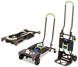 Cosco Shifter 300-Pound Capacity Multi-Position Heavy Duty Folding Hand Truck and Dolly, Green (Renewed)