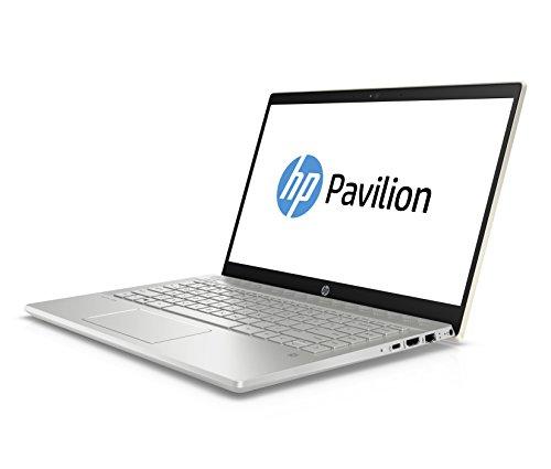 "HP Pavilion 14-ce0014ns - Ordenador Portátil 14"" FullHD (Intel Core i7-8550U, 8 GB de RAM, 256 GB SSD, Nvidia GeForce MX 150, Windows 10), Color Oro - Teclado QWERTY Español"