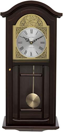 Orologio da Parete a Pendolo in Legno Color Mogano Fox e Simpson con campanelli di Westminster