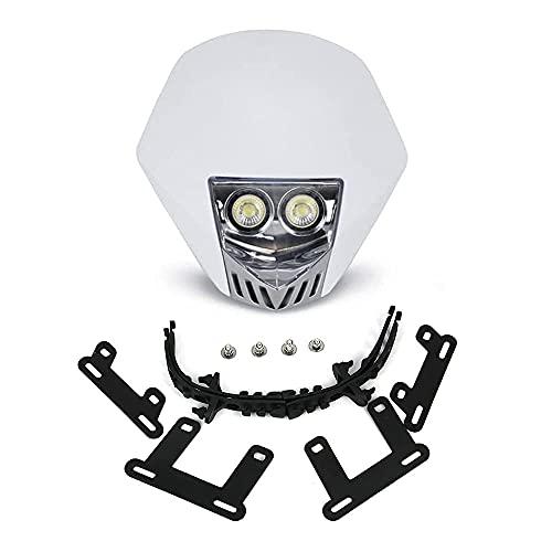Dirt Bike Headlight Led, Universal 5W LED Bulbs Head Lamp for Motorcycle Dirt Pit Bike ATV Scooters - White