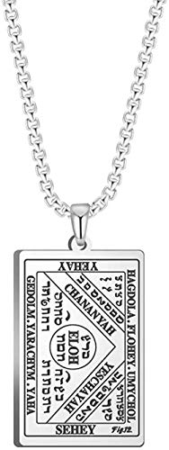 NC188 Amulet Brings Great Fortune By Water Necklace For Men The Third Table Of The Spirits Of Water (Book Of The Moses) Silver 60cm
