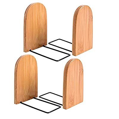bookends. Premium Bookend.Office Book Stand. bookends Supports .Suitable for Library, Bookstore, Family, Office, Study and so on. (bookend supports-4pack)