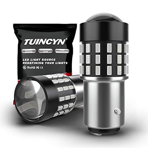 TUINCYN 1156 Ampoule LED Super Bright 7506 BA15S 3014 54-EX Puces Ampoule pour feu de Stop Feu de recul Feu de recul RV Light DC 12V-24V Rouge Brillant (Pack de 2)
